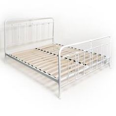 METAL DOUBLE BED IN ANTIQUE WHITE COLOR (160X200)