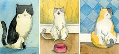Cat Illustrations by Nicole Wong