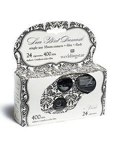 Single Use Camera - Love Bird Damask Design