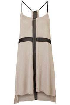 topshop black cross dress in cream