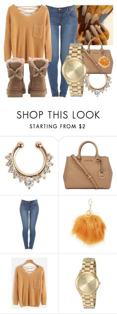 """""""Happy Thanksgiving ❤️"""" by foreverkaylah ❤ liked on Polyvore featuring Michael Kors, Charlotte Russe and UGG"""