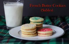 These French Butter Cookies, also called a Sable, have a slightly crunchy and crumbly texture, and a rich buttery flavor. They are an easy yet elegant Christmas cookie!