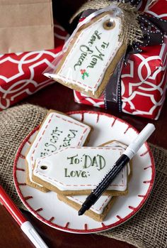 Gingerbread gift tag cookies make a great stocking stuffer or just a fun way to label a gift.