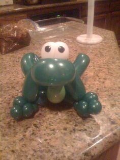 Green Frog Balloon Twist