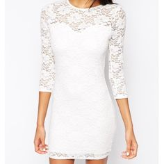 NWT DRESS Purchased from ASOS, brand is Club L. It's a UK size 10, US size 6. Sweetheart neckline with lace sleeves. NWT. Save 20% by bundling with other items  Dresses Mini