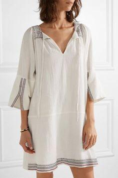 APIECE APART | Tewa embroidered cotton-gauze dress | NET-A-PORTER.COM