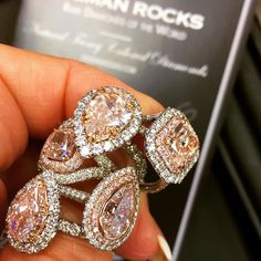 PINK DIAMOND! Beautiful people, you asked for more PINK DIAMONDS, so we had to take some fresh pictures. Here they are- what do you think?#rings #ring #engaged #love
