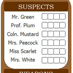 Clue Themed Parties, Mystery Parties, Mystery Dinner, Microsoft Word, Harry Potter Cluedo, Printable Cards, Printables, Mystery Board Games, Fun Party Games