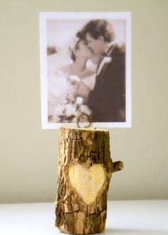 22 Project Ideas for Crafting With Twigs and Branches ~This is so sweet. it would be cute with initials carved in the heart.~