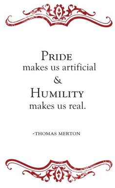pride vs. humility reminders