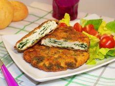 Spinacine fatte in casa Tandoori Chicken, Salmon Burgers, Allrecipes, Italian Recipes, Food And Drink, Pizza, Breakfast, Ethnic Recipes, Carne