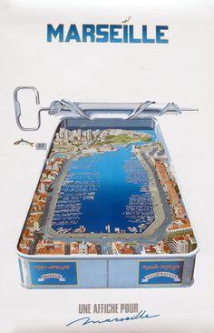 Affiche/Marseille/Richard Campana/Sardines/Port