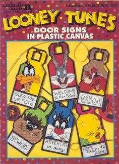 LOONEY TUNES DOOR HANGERS plastic canvas book by puddinpop