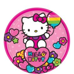 (($)) Rainbow Hello Kitty Dessert Plates 8ct - Party City