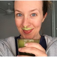 My fav green smoothie for acne healing:)