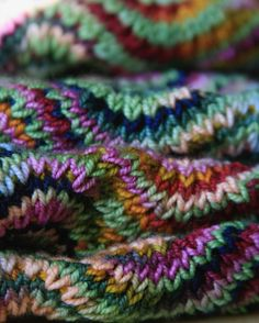 "68 Likes, 3 Comments - Melissa McKelvey (@melissamckelvey) on Instagram: ""#yarnlovechallenge day 23: throwback. I knit this Chevron Scarf in 2007 and 2008. It was my first…"""