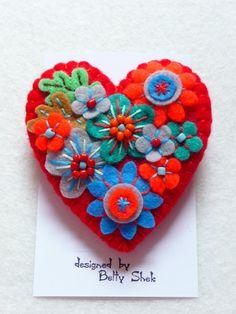 FB073 Arte Japonés inspirado corazón forma por designedbybettyshek