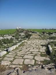 Roman Road Near Cilician Gates or Gülek Pass. Turkey. The Cilician Gates is a pass through the Taurus Mountains connecting the low plains of Cilicia to the Anatolian Plateau, by way of the narrow gorge of the Gökoluk River. Has been a major commercial and military artery for millennia.