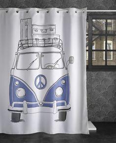 240-Van Gliders, Indigo, Vans, Curtains, Shower, Bathroom, Shower Curtains, Colors, Rain Shower Heads