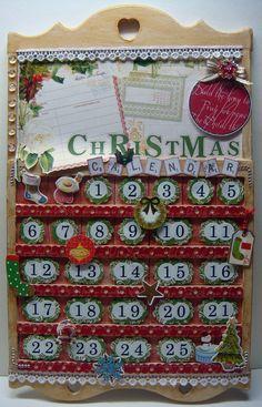 Webster's Pages Altered Christmas Calendar - Scrapbook.com
