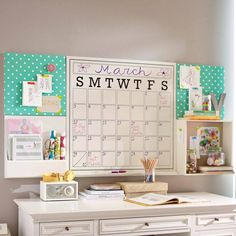 Cute desk set up for tween / teen / college dorm? Description from pinterest.com. I searched for this on bing.com/images