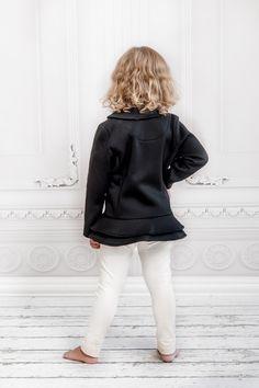 Solstice Peplum -Black (Back) | www.liamandisla.com