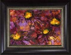 Full Bloom Floral Ink Painting, Original Art by Marina Petro, painting by artist Marina Petro