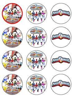 . Bolo Power Rangers, Power Rangers Samurai, Pawer Rangers, Power Rangers Dino, Power Ranger Cupcakes, Power Ranger Party, Power Ranger Birthday, 60th Birthday Cupcakes, 6th Birthday Parties