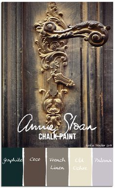 A somber mix of Chalk Paint neutrals, with just a hint of Paloma, are layered to form a well worn patina. a If dark and moody is your thing check out these posts you may have missed: Something B. Annie Sloan Chalk Paint Colors, Annie Sloan Painted Furniture, Black Chalk Paint, Annie Sloan Paints, Chalk Paint Furniture, Hand Painted Furniture, Chalk Painting, Furniture Refinishing, Distressed Furniture