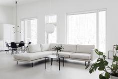Täydellinen sohva   Design Wash Living Room Colors, Living Room Designs, Living Room Decor, White Interior Design, Interior Styling, Living Room Inspiration, Home Decor Inspiration, Pretty Things, Modern White Living Room