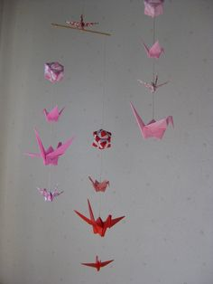 Origami Mobile  Cranes and Modules by makikomo on Etsy, $28.00