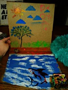 Make your own world with kids outta a pizza box# crafts with kids