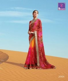Shangrila Bandhani Vol-4 Designer Sarees (12 pc catalog)