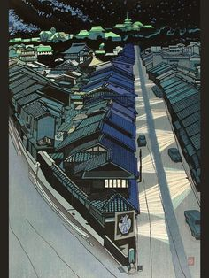"""Seeing it's getting darker outside, here's one of my favourite ukiyo-e prints, 'Night in Kyoto' by Sekino Jun'ichirô"" Japanese Art Modern, Japanese Prints, Japanese Design, Japanese Woodcut, Japan Illustration, Art Asiatique, Japanese Painting, Japan Art, Woodblock Print"