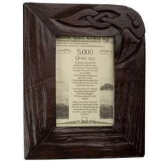 Turf Bog Oak Frame inch Turf Bog Oak Frame inch holds photo size x Bronze Sculpture, Old And New, Pop Up, Mists, Picture Frames, Irish, Island, Pictures, Crafts