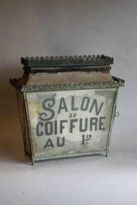 antique french lantern for hairdresser's shop