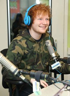 And when he wore these headphones and just looked so happy about it.   21 Times Ed Sheeran Was So Unbelievably Cute We Almost Couldn't Take It