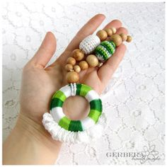 Teething Necklace by GerberaHandmade juniper beads READY TO SHIP