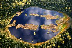 Chalupská slať – letecký pohled | Šumava Prague, Birken, Magical Forest, European Countries, Mountain Range, Czech Republic, Homeland, Travelling, Fantasy