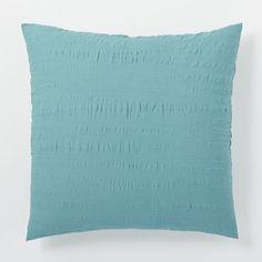 Crinkle Duvet Cover + Shams - Aquamarine