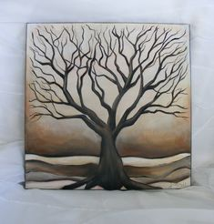 Folk Art Tree Painting Original