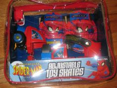 Spectacular Spider-man Spiderman Adjustable Toy Skates and Pad Set by Street Flyers, http://www.amazon.com/dp/B0036Q1YYG/ref=cm_sw_r_pi_dp_D0lesb04DE392