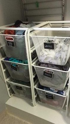 Ikea organizing, baskets same size as laundry basketOrganization Obsessed - Organizing Tips, Cleaning Hacks & Printable Planners to Help You Live an Organized Life.Ikea organizing, baskets same size as laundry basketThere are a few tasks in life that Ikea Laundry Basket, Laundry Basket Organization, Ikea Laundry Room, Ikea Basket, Ikea Closet, Small Laundry Rooms, Laundry Room Organization, Laundry Room Design, Laundry Nook