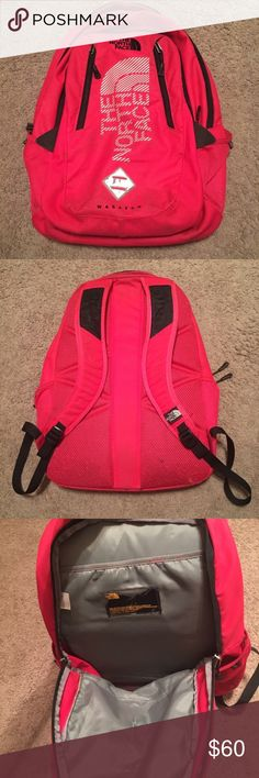 North Face Backpack North Face Backpack. My daughter used it one school year. No holes or tears. Just needs to be cleaned. Still has a lot of life left. Make offer!!! ♥️ The North Face Bags Backpacks