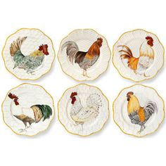 Alberto Pinto Dinnerware | Plumes Rooster Dinnerware by Alberto Pinto | Gracious Style