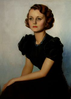 Mary Astor Holywood Portrait - Rolf Armstrong - Date:1933  Medium:Pastel on Illustration Board .....#GT