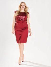 Pink sequin bodycon dress
