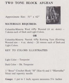 🎲 Crochê Clássica dois Tons Caixa do Bloco Crochê -  /  🎲 Vintage Crochet Two Tone Block Box Crocheting -