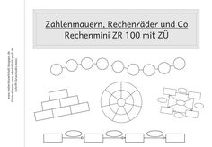 Materialwerkstatt: Rechenmini ZR 100: Zahlenmauern, Rechenräder & Co