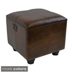 "International Caravan Square Storage Ottoman with Ball Feet.  Found on ""ALL THINGS TEXAS""  Could use at end of sofa for additional seating"